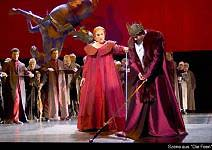 Rachael Tovey as Lora with Edward Randall as Arindal in Wagner´s Die